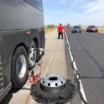 RV with a flat tire